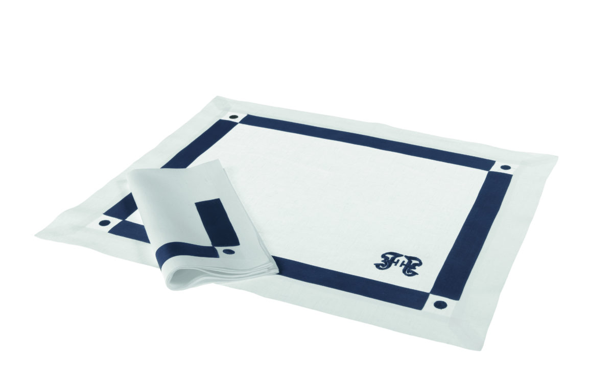 Gf Navy Placemats Blue