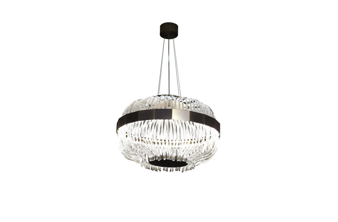 Wicker Suspension Lamp 1